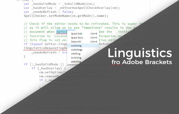 Linguistics for Adobe Brackets